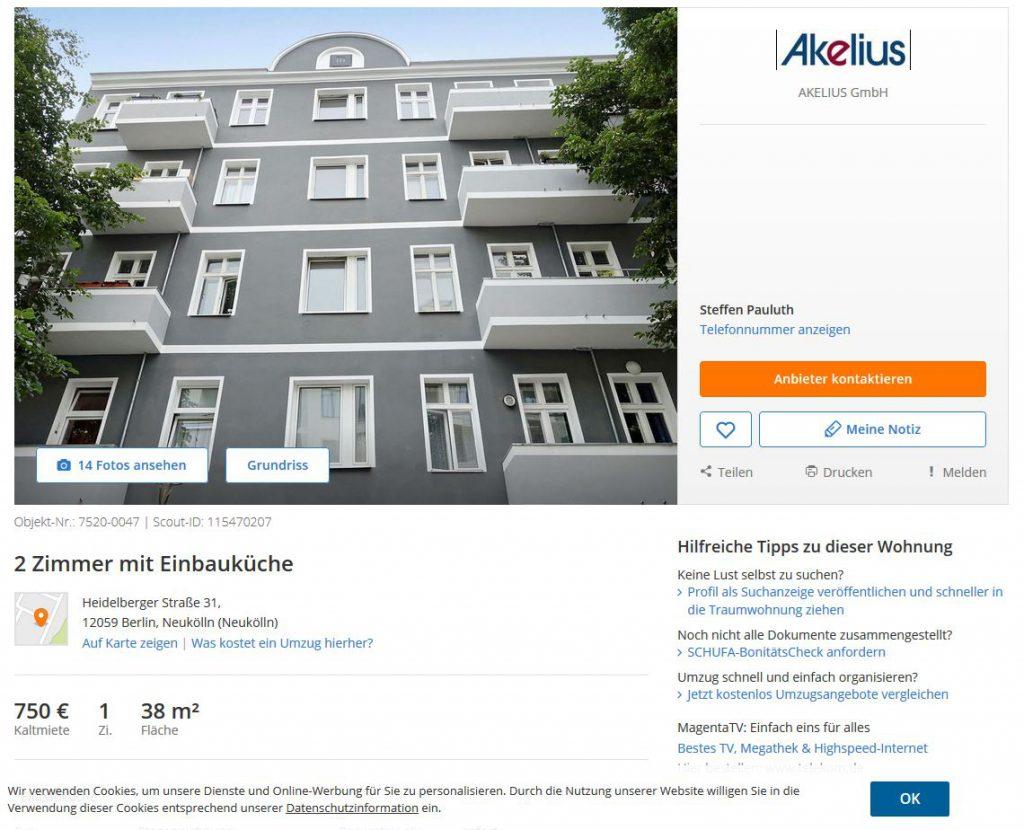 Akelius,Mietwucher, Heidelbergerstraße, Neukölln